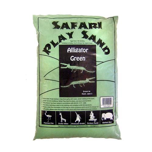 Safari Coloured Play Sand 15kg Bag Alligator Green