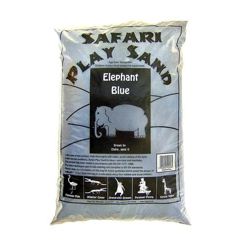 Safari Coloured Play Sand 15kg Bag Elephant Blue