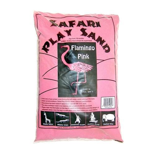 Safari Coloured Play Sand 15kg Bag Flamingo Pink