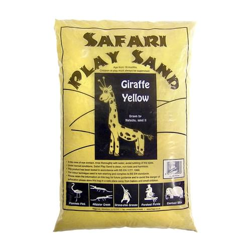 Safari Coloured Play Sand 15kg Bag Giraffe Yellow