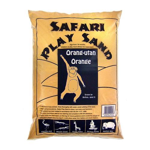 Safari Coloured Play Sand 15kg Bag Orang-utan Orange