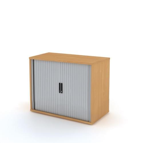 Universal Tambour Cupboard 1000x725mm - Silver Doors, Grey MFC