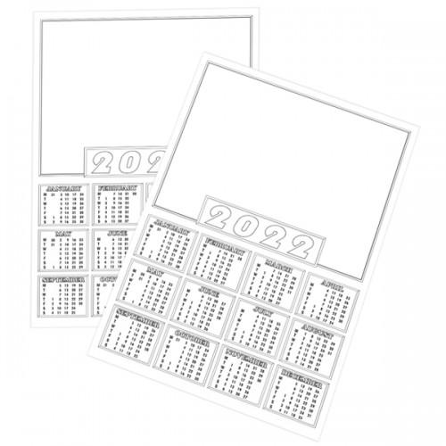 2022 A4 Calendar Blanks