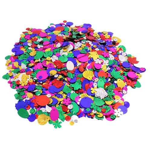 Assorted Craft Sequins & Spangles 500g Bag