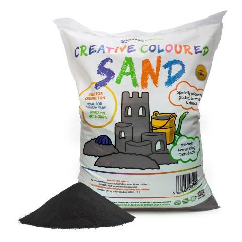 Coloured Play Sand 15kg Bag Black