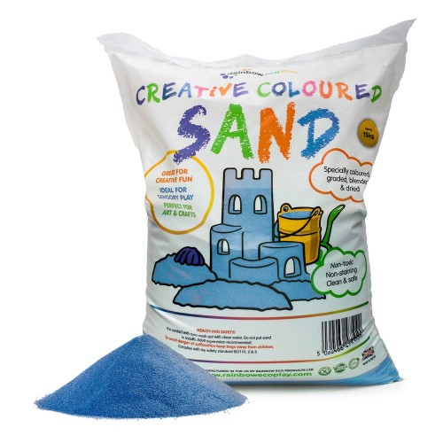 Coloured Play Sand 15kg Bag Blue