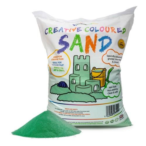 Coloured Play Sand 15kg Bag Green