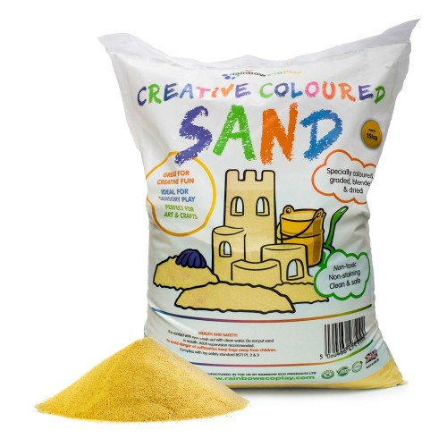 Coloured Play Sand 15kg Bag Yellow