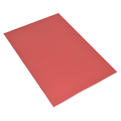 A4 SEN Exercise Books 10mm Squares Pink Paper Red Cover 48 Pages