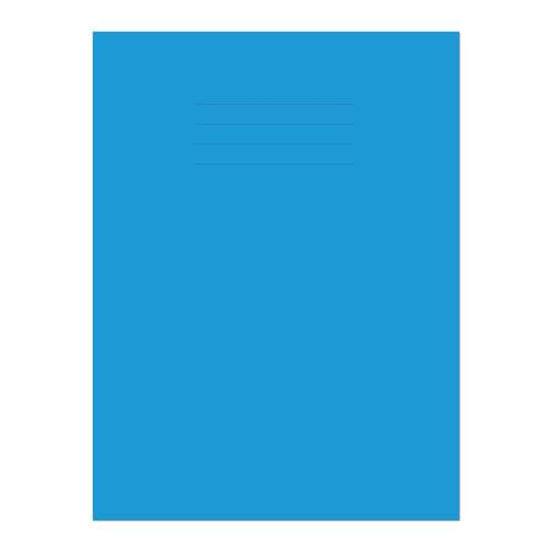 Exercise Book A4+ 320x240mm 8mm Ruled Light Blue Cover 80 Pages
