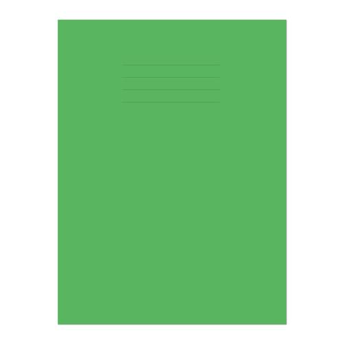 Exercise Book A4+ 320x240mm 8mm Ruled with Margin Light Green Cover 80 Pages