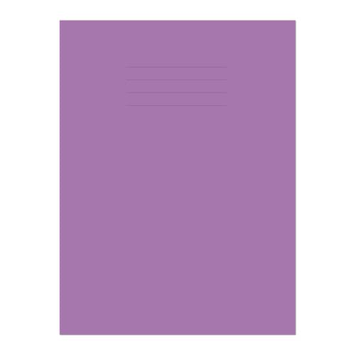 Exercise Book A4+ 320x240mm 8mm Ruled with Margin Purple Cover 80 Pages