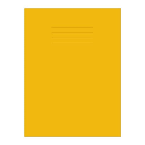 Exercise Book A4+ 320x240mm 8mm Ruled with Margin Yellow Cover 80 Pages