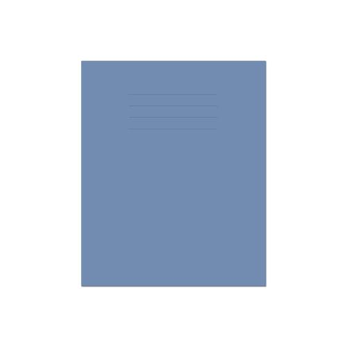 Exercise Book 8x6.5in 203x135mm 8mm Ruled with Margin Dark Blue Cover 48 Pages