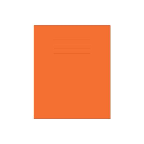 Exercise Book 8x6.5in 203x135mm 5mm Squared Orange Cover 80 Pages