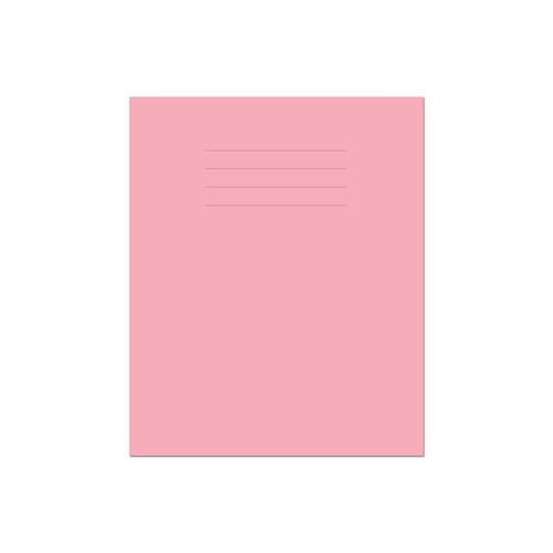 Exercise Book 8x6.5in 203x135mm Plain (No Ruling) Pink Cover 48 Pages