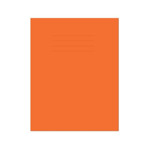 Exercise Book 9x7in 229x178mm 8mm Ruled with Margin Orange Cover 80 Pages