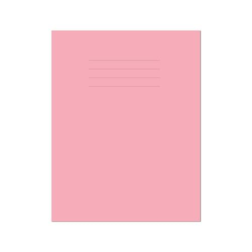 Exercise Book 9x7in 229x178mm Plain (No Ruling) Pink Cover 48 Pages