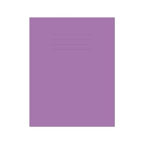 Exercise Book 9x7in 229x178mm 8mm Ruled with Margin Purple Cover 80 Pages