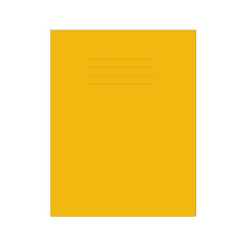 Exercise Book 9x7in 229x178mm 8mm Ruled with Margin Yellow Cover 48 Pages