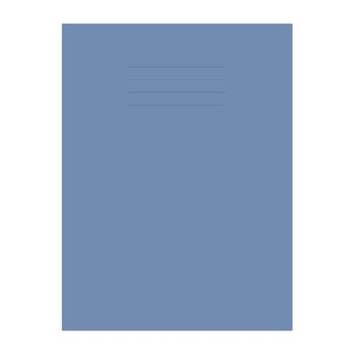 Exercise Book A4 297x210mm 8mm Ruled with Margin Dark Blue Cover 80 Pages