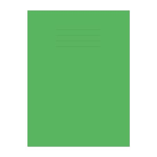 Exercise Book A4 297x210mm 8mm Ruled with Margin Light Green Cover 64 Pages