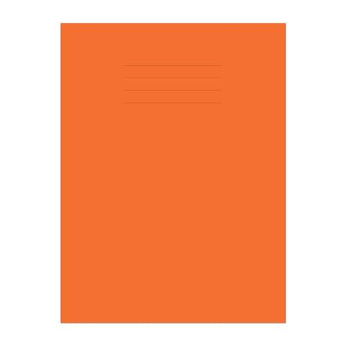 Exercise Book A4 297x210mm 8mm Ruled with Margin Orange Cover 48 Pages