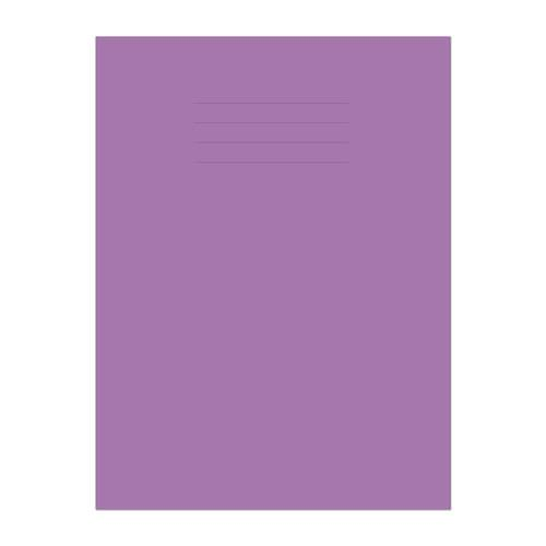 Exercise Book A4 297x210mm 8mm Ruled with Margin Purple Cover 48 Pages