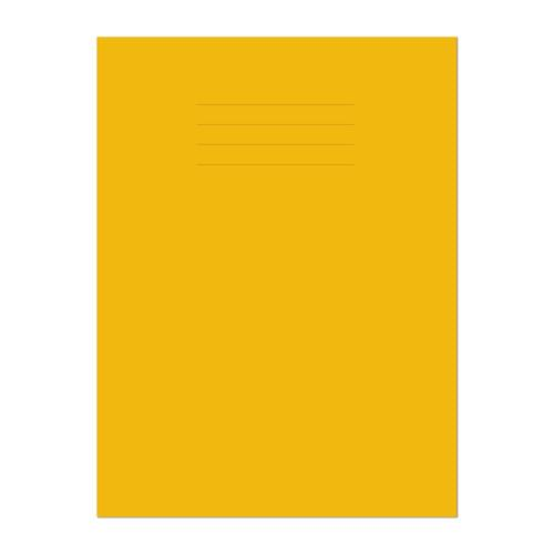Exercise Book A4 297x210mm 8mm Ruled with Margin Yellow Cover 64 Pages