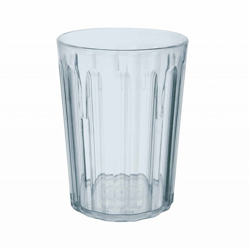 Antibacterial 250ml/9oz Polycarbonate Fluted Tumbler Clear