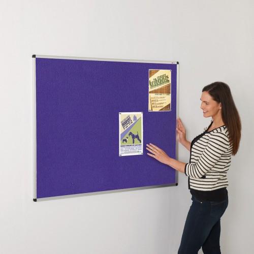 ColourPlus Loop Nylon Aluminium Framed Noticeboards