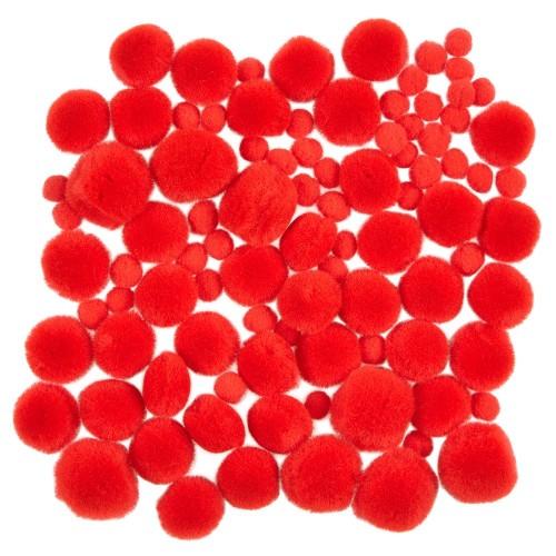 Mini Red Pom Poms