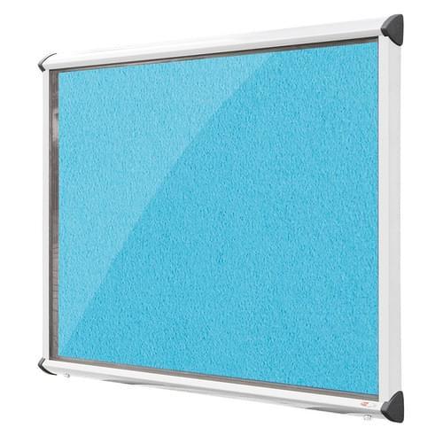Shield Aluminium Frame Exterior Showcase W967 x H750mm (8x A4) Cyan Loop Nylon Cloth