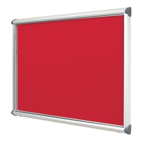 Shield Aluminium Frame Exterior Showcase W1012 x H1050mm (12x A4) Scarlet Loop Nylon Cloth