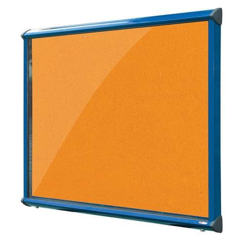 Shield Blue Frame Exterior Showcase W1182 x H1050mm (15x A4) Orange Loop Nylon Cloth