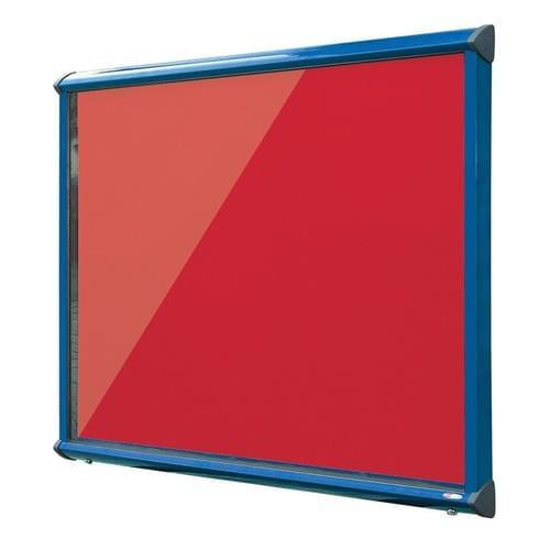 Shield Blue Frame Exterior Showcase W967 x H750mm (8x A4) Scarlet Loop Nylon Cloth