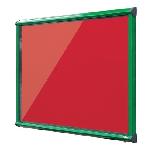 Shield Green Frame Exterior Showcase W1182 x H1050mm (15x A4) Scarlet Loop Nylon Cloth