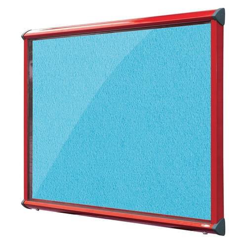 Shield Red Frame Exterior Showcase W1397 x H1050mm (18x A4) Cyan Loop Nylon Cloth