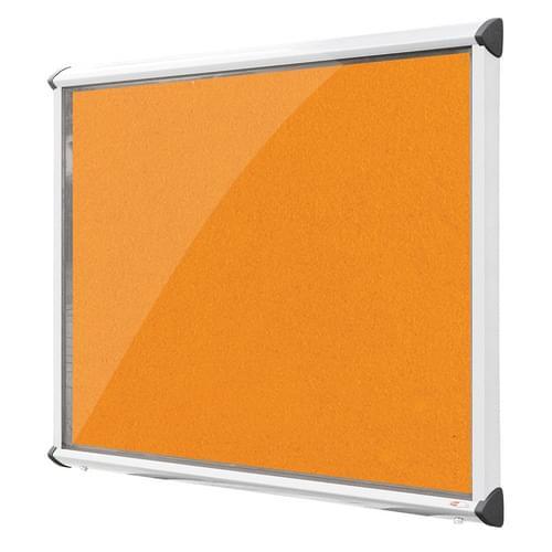 Shield White Frame Exterior Showcase W1397 x H1050mm (18x A4) Orange Loop Nylon Cloth