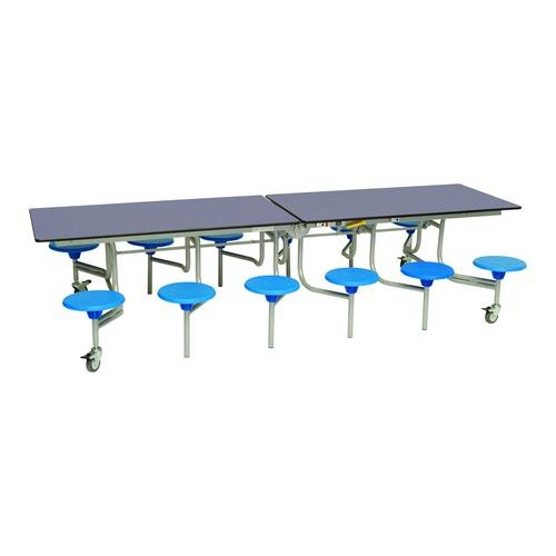 Rectangular Mobile Folding Table with 12 Seats