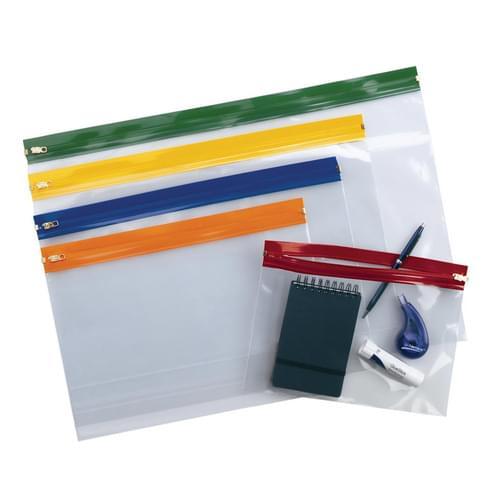 Super Saver Zip Wallet A3 Blue Pk25