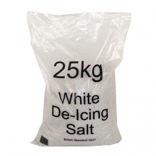 White De-icing Salt 25kg Bag