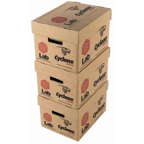 Cyclone Storage Box 300x400x260mm. Removable lid and cut out handles (Pack of 10) cyc/storagebox