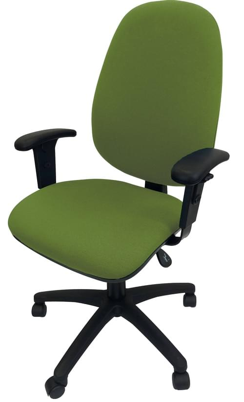 PRO-SIT 3 High Back XL Operators chair with Height Adjustable Arms - Green CSE18