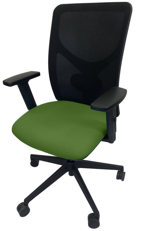 PRO-SIT 5 Mesh Back Task chair with Synchro Tilt & Height Adjustable Arms - Green CSE18