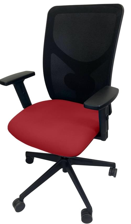 PRO-SIT 5 Mesh Back Task chair with Synchro Tilt & Height Adjustable Arms - Red CSE06