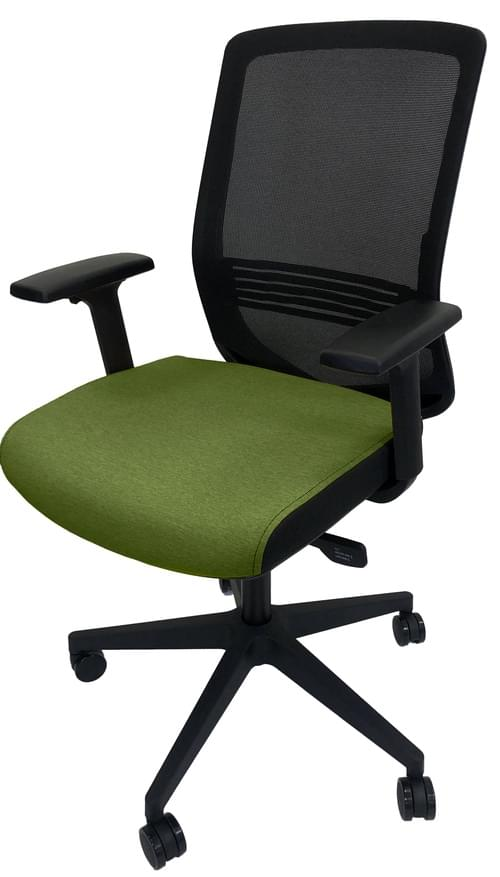 PRO-SIT 6 Mesh Back Task chair with Syncro. Tilt Mech and Height Adjustable Arms - Green CSE18