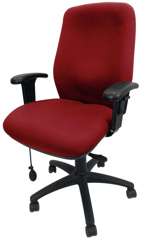 PRO-SIT 8 High Back Upholstered Task chair with Height Adjustable Arms, Seat Slide and Inflatable Lumbar Support - Red CSE06