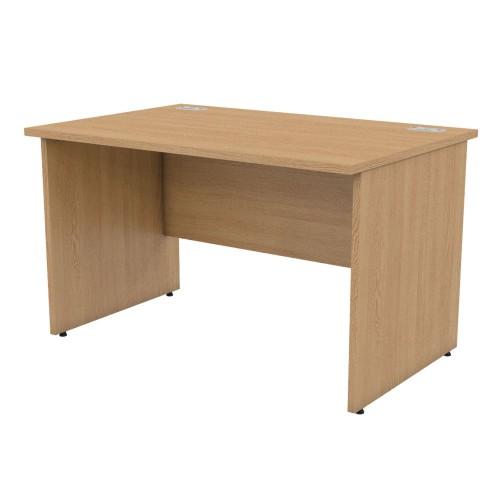 BASICS 1200mm wide Rectangular Panel End Desk - Light Oak