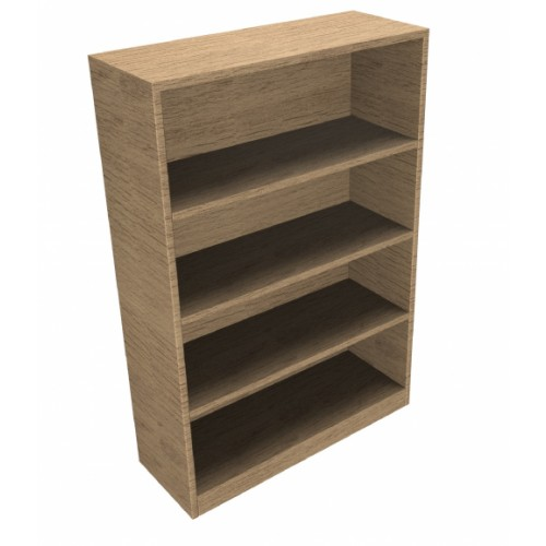 CLASSIC Bookcase Unit 1200mm high x 800mm wide x 300mm deep  - Chester Oak